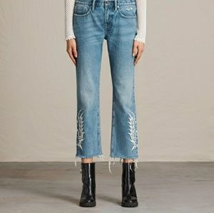 All Saints Philly Embroidered Boyfriend Jeans